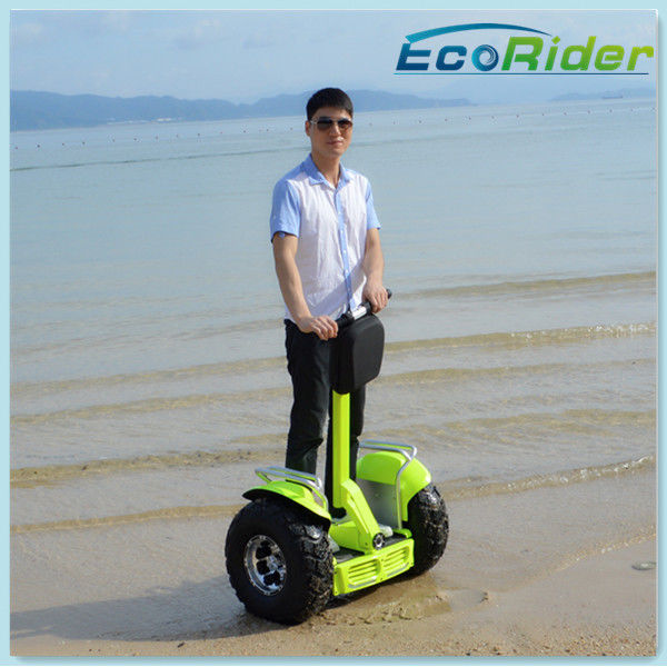 Apple Green Lithium Battery Electric Scooter 2 Wheel / Standing Up Electric Scooter
