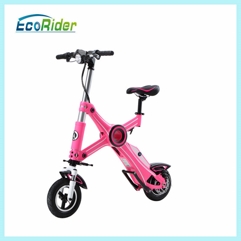 Fashion Pink Foldable Electric Scooter 36V 10 inch with Seat