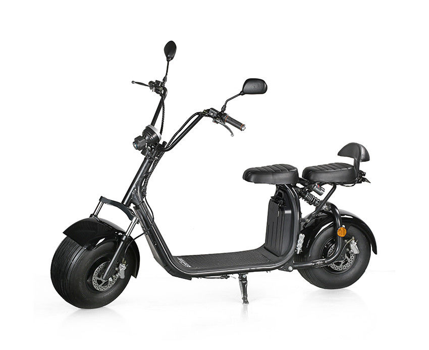 EcoRider 2018 1500 W 60v 12ah Lithium Battery 2 Wheel Electric Scooter , Electric Harley Scooter with double seats
