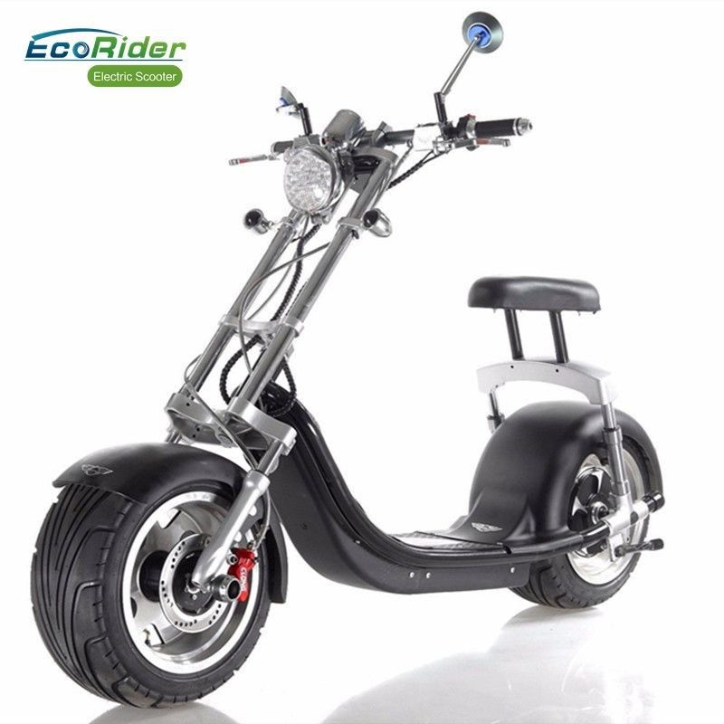 Off Road 2 Wheel Electric Scooter , Electric Fat Wheel Scooter For Adult , Eco Friendly