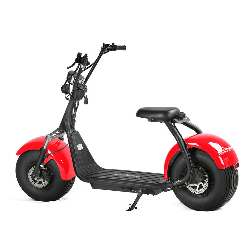 EcoRider Two Wheels Electric Scooter Off Road Harley Scooter With 2 Seat