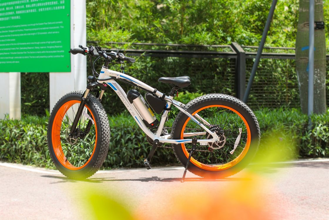 High Rate Motor 26 Inch Suspension Snow Electric Bicycle With Aluminum Alloy Frame