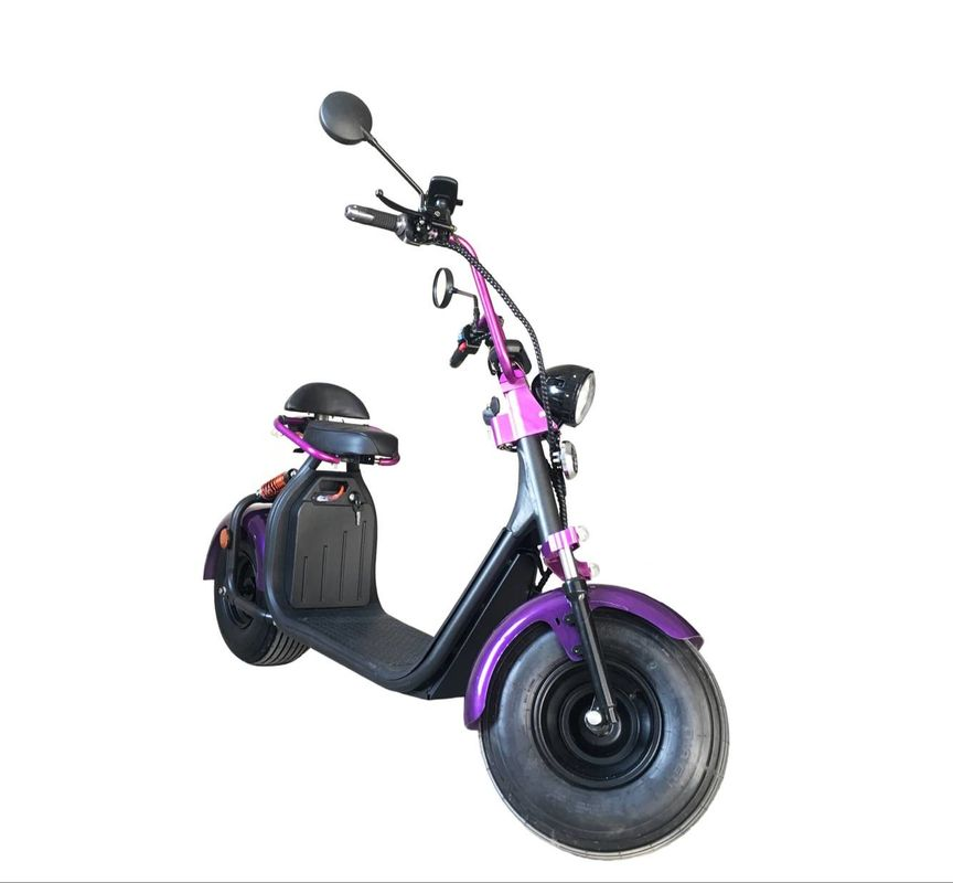 Regarchable Lithium Ion Electric Two Wheel Scooter 1500W 60V 12Ah 20Ah